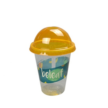 Custom Plastic Disposable Universal Coffee Drinking Cups With Dome Lids