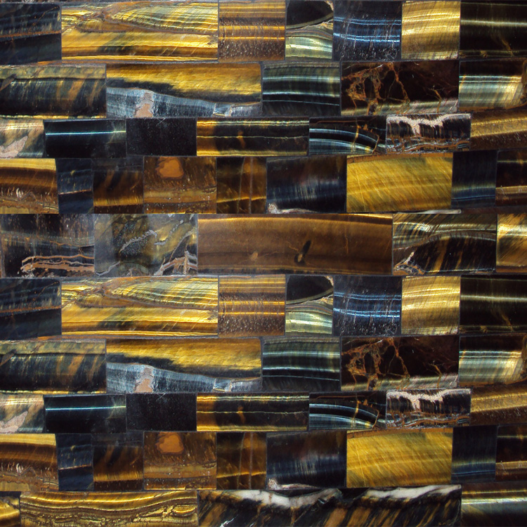Free Sample Natural Stone Yellow Blue Tiger Eye Slab/Polished Office Table/Countertop For Sale