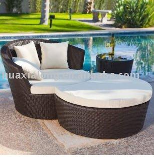 2013 popular oval redondo conjunto de sof cama de sol for Sofa exterior redondo