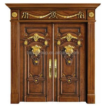 Holztür außen  Luxus Antiken Vergoldet Geschnitzte Holztür Für Villa Außen ...