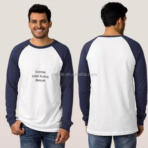 Casual 100% Ring-spun Cotton Mens Custom Long Sleeve Baseball Raglan T-Shirt Wholesale Fishing Shirts