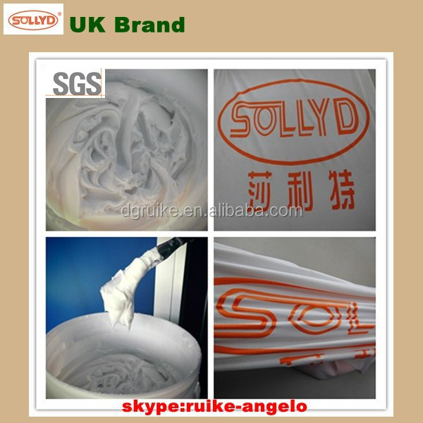 Good elastic ECO-friendly silk screen printing clear plastisol ink for clothing, UK brand chemicals supplier in dongguan