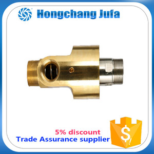 50a brass plumbing fittings high press rotary joint High Speed Coolant Unions