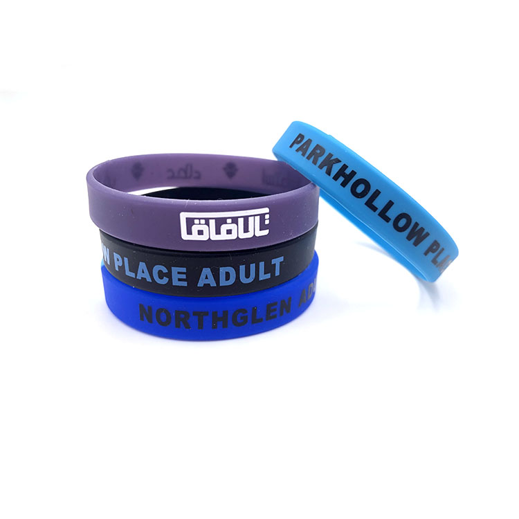 Custom Cheap Functional Silicon Rubber Bracelets Wrist Band, Variety of colors is available