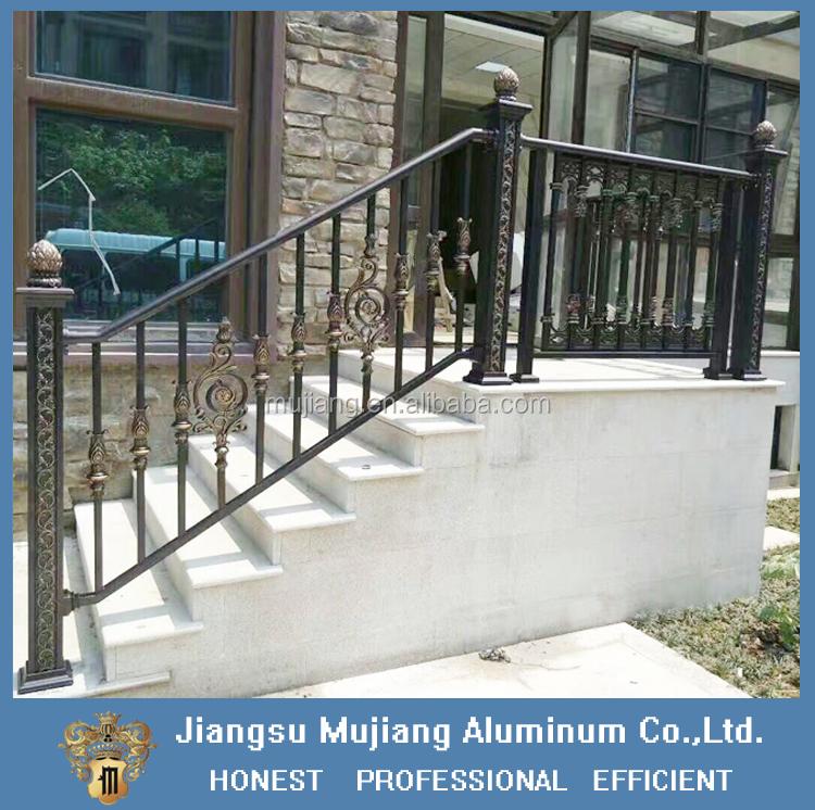 Aluminum Handrails For Stairs/ Decorative Outdoor Aluminum Stair Railings  Designs