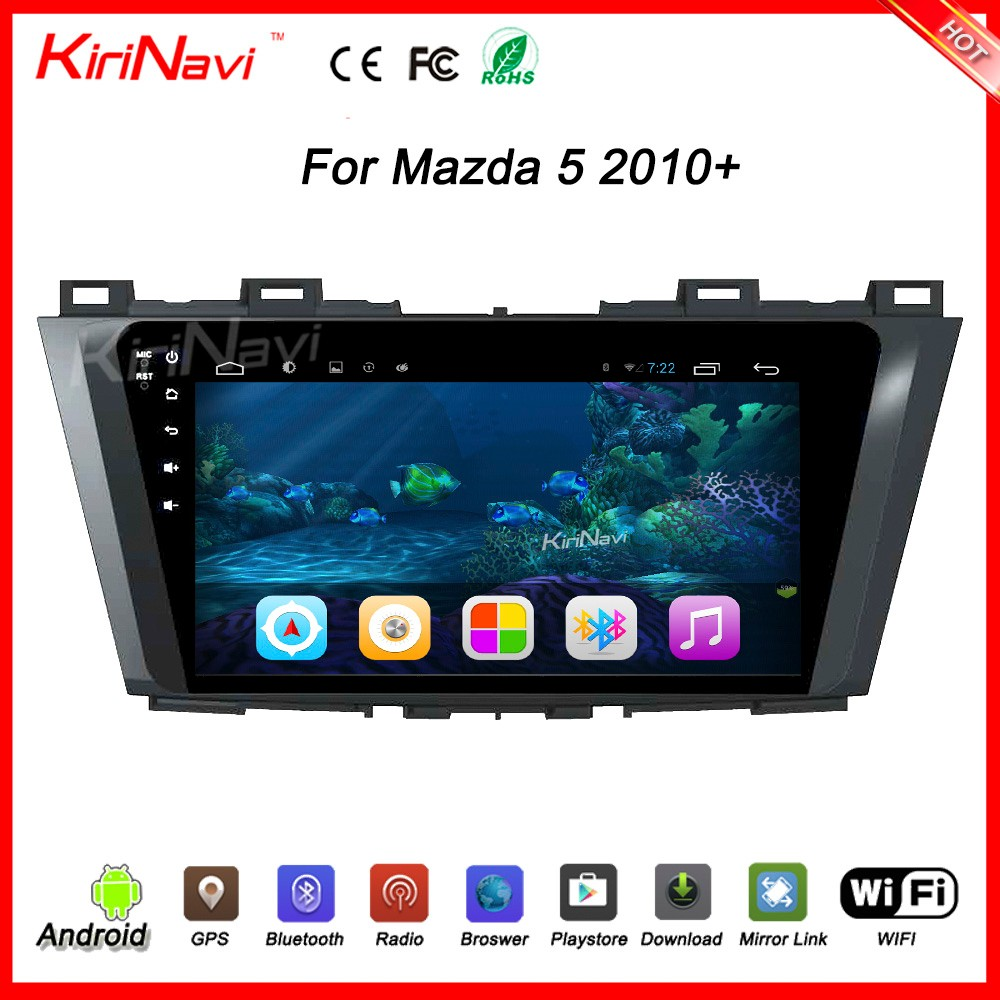 "Kirinavi direct factory WC-MZ9010 9"" andriod 6.0 car audio gps car dvd player new for mazda 5 car dvd 2010 + touch screen"
