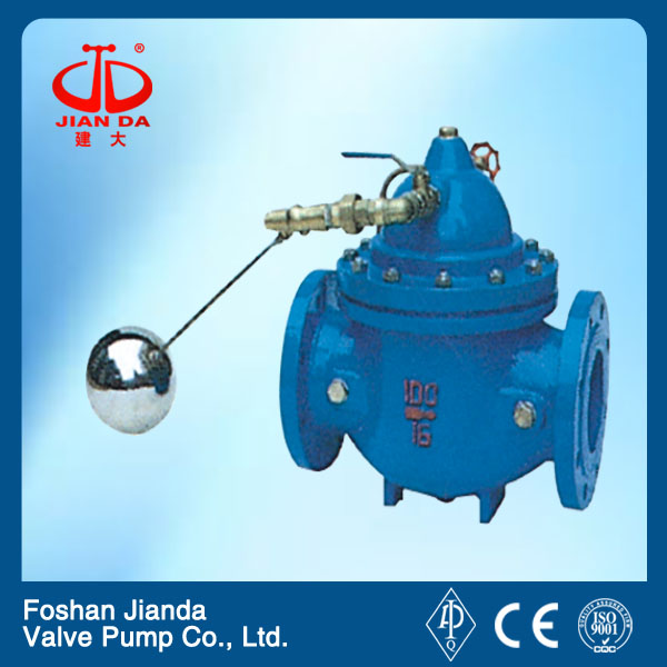 100X Cast iron flange float ball remote control valve