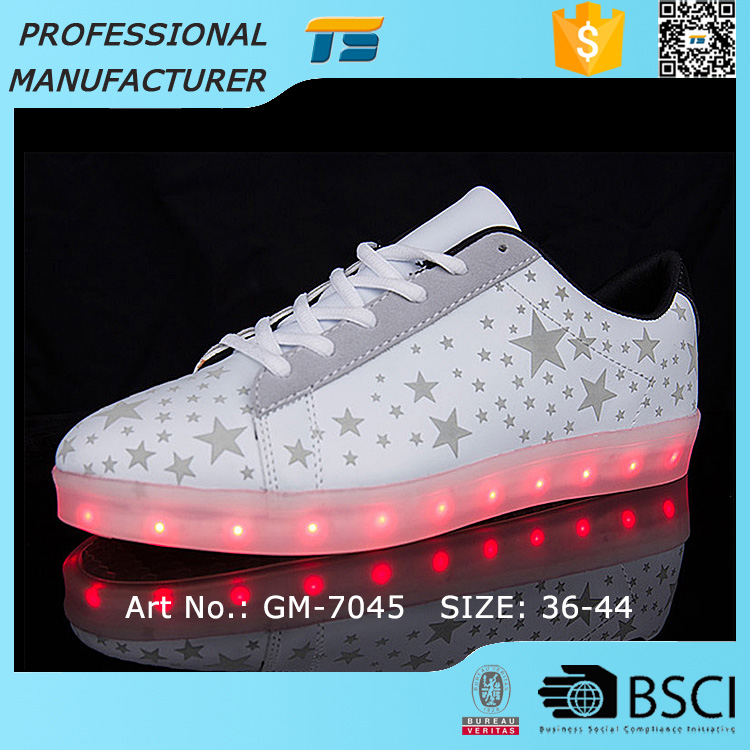 Pretty ladies stars Lighting Shoes Led Shoes Space leather light-weight shoes
