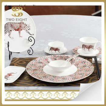 Leopard Ceramic dinnerware saudi arabia market italian porcelain dinner set & Leopard Ceramic Dinnerware Saudi Arabia Market Italian Porcelain ...