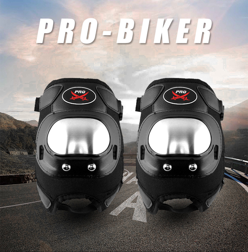 Motorcycle Short Type Knee Pad Elbow Protector Motorbike Racing Thick Stainless Steel Protective Gear Armor SWX MOTO