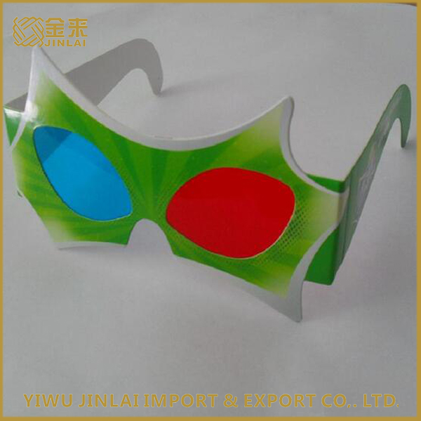 Promotional gift cardboard circular 3D paper polarized glasses