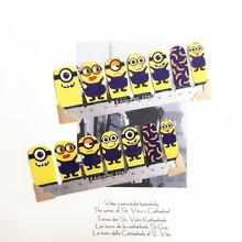 Black Yellow minions Child Nail Arts Nail Sticker Waterproof Nail Decal Sticker Gel Polish French Manicure