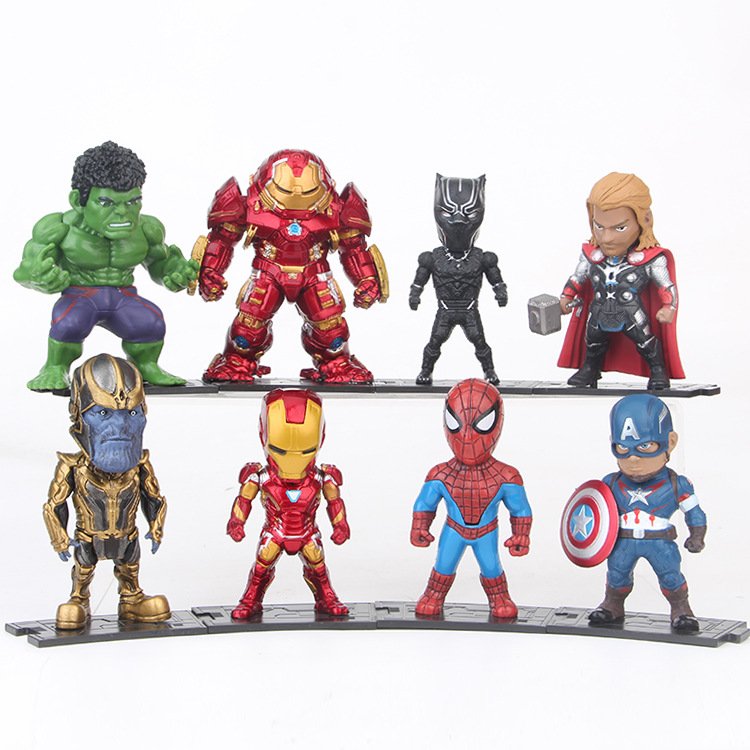 Wholesale 8 <strong>models</strong> / set of vivid <strong>model</strong> toys Superman Thor Man PVC Action Figure Collection <strong>Models</strong> Toy