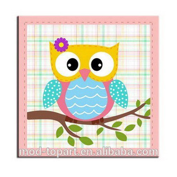 Night Owl In Tree Canvas Canvas Painting Buy Canvas Painting