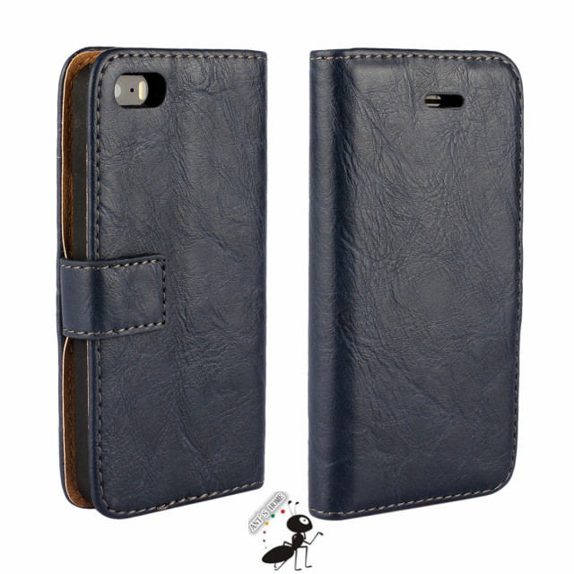 separation shoes 8cdf7 68345 Luxury PU leather card holder flip wallet case cover for apple iphone 5 5s  Full protection mobile phone bag cases for iphone 5s