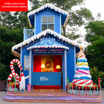 fiber large outdoor christmas decorations giant candy cane - Giant Outdoor Christmas Decorations