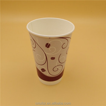 Custom printing wholesale 16oz paper biodegradable coffee cup