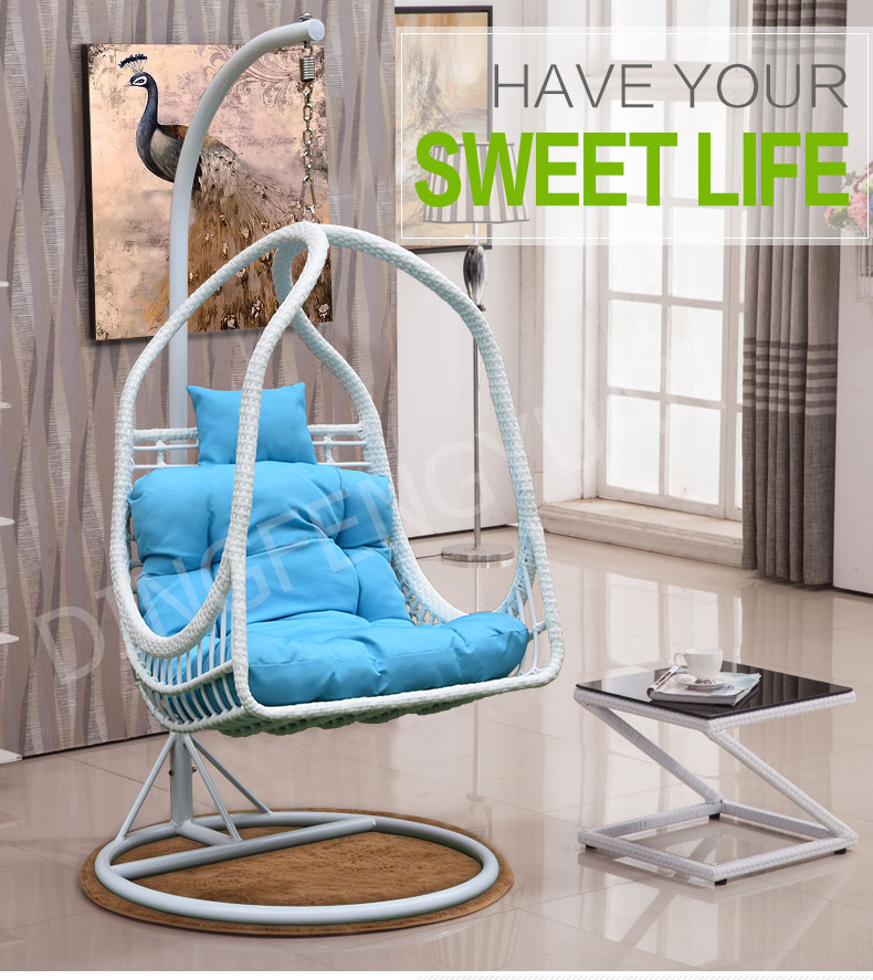 Single Seat Rattan Outdoor Swing Chair - Buy Swing Chair ...
