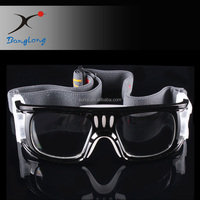 Safety basketball goggles with soft nose pad