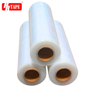Clear pallet wrapping 23 micron lldpe stretch film with low noise