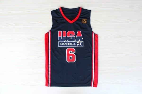 e1bd4ef0c7 Get Quotations · #6 Patrick Ewing Basketball Jersey 1992 USA Classic Dream  Team jerseys Retro Camisetas Baloncesto Basquete