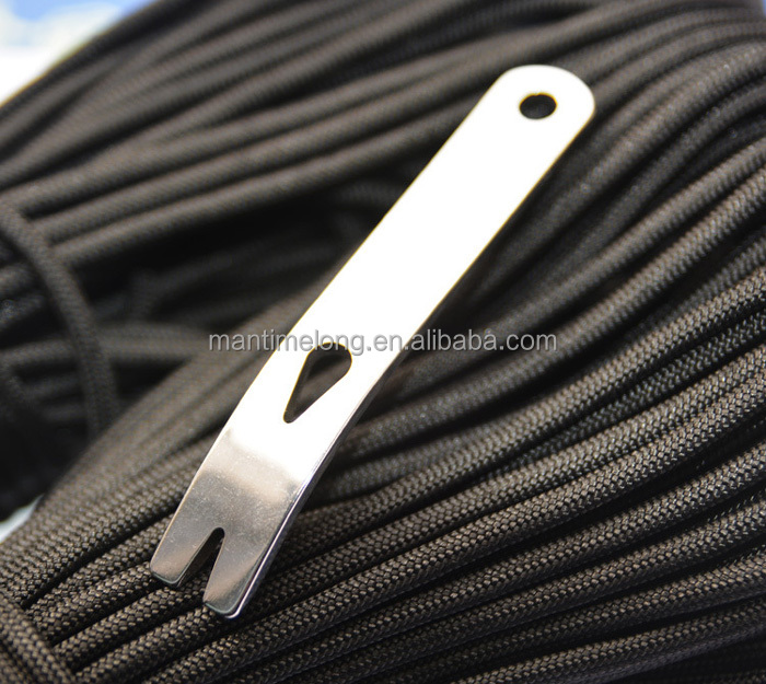 EDC Pocket Tool Mini Pocket Edition stainless steel crowbar crank scraper Winder Staple Keychain