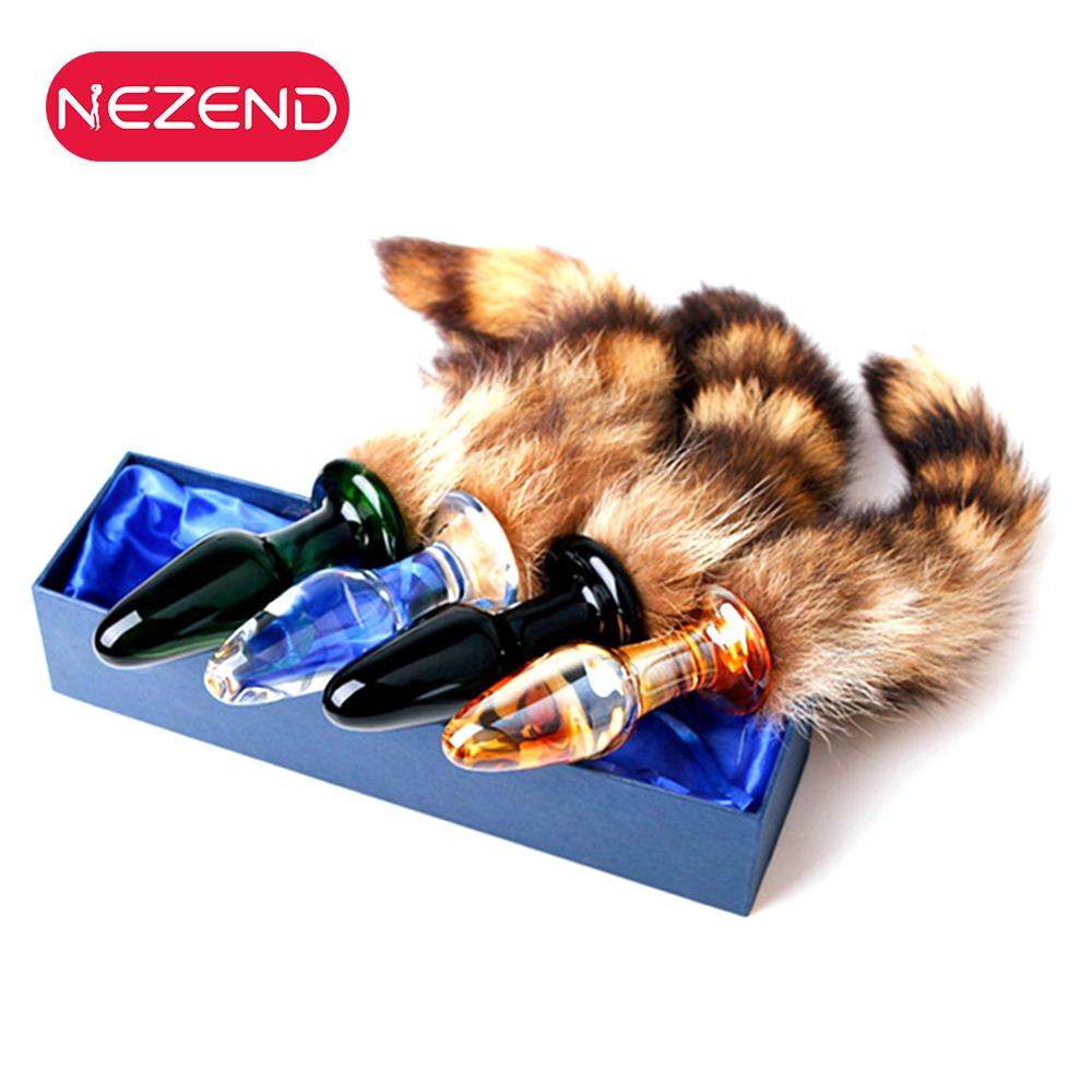 Artificial Homemade Gay Women Anus Sm Game Big Ass Toy Cat Fox Tail Anal  Plug For Men
