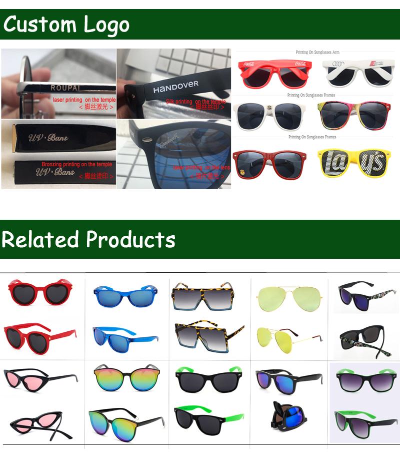 Wholesale fashion various lenses PC sun glasses option custom branded colorful plastic  sunglasses