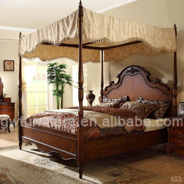 100% hand carve egyptian bed china A53