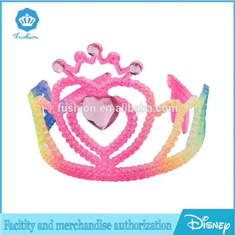 Promotional children plastic birthday party rainbow tiara crown