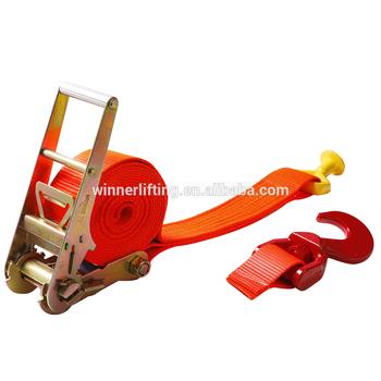 Ratchet Type Ergo Lashing Belt With Double J Hooks - Buy Ergo Lashing  Belt,Ratchet Lashing Belts,Cargo Lashing Ratchet Tensioner Product on