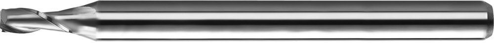 "KYOCERA 1620-2031L438 Series 1620 Stub Length Square End Mill, Carbide, AlTiN, 30 Degree Angle, 2 Flute, 13/64"" Cutting Diameter, 1/4"" Shank Diameter, 0.438"" Cutting Length, 2-1/2"" Length"