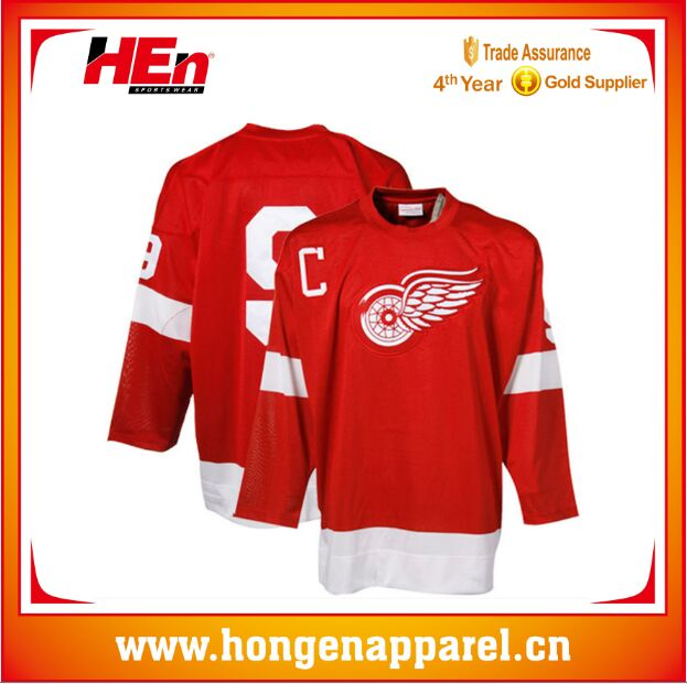 d062880dcad Hongen apparel old supplier Custom Design Cheap Sublimation Team Hockey  Shirts new season Sublimation Ice Hockey Uniforms