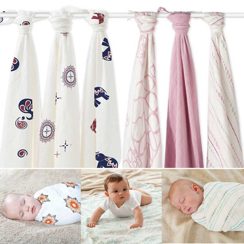 Travel Towel Bamboo: Hot Sell Aden Anais Muslin Baby Blanket Bamboo Fiber