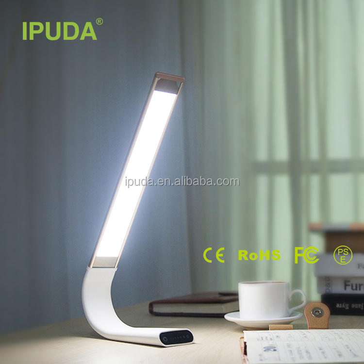 2017 top selling product IPUDA led lamp on the desk with touch switch dimmable color brightness