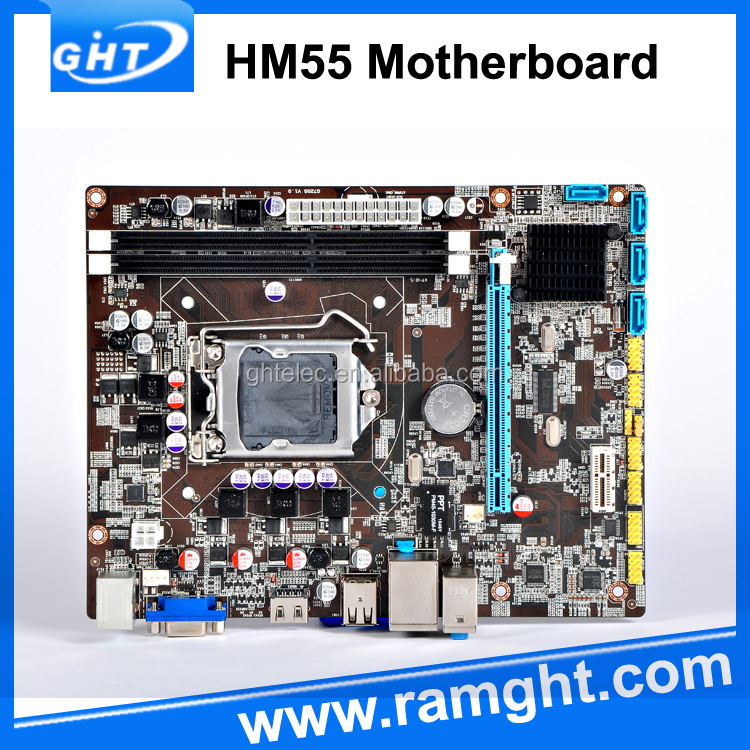 China wholesale DDR3 Memory hm55 chipset testing machine motherboard
