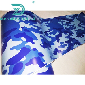 Matte Finished Jumbo Blue Camo Car Vinyl Wrap Urban Sticker Bomb Camouflage Printed Graphics Pvc Material Roll Sheet