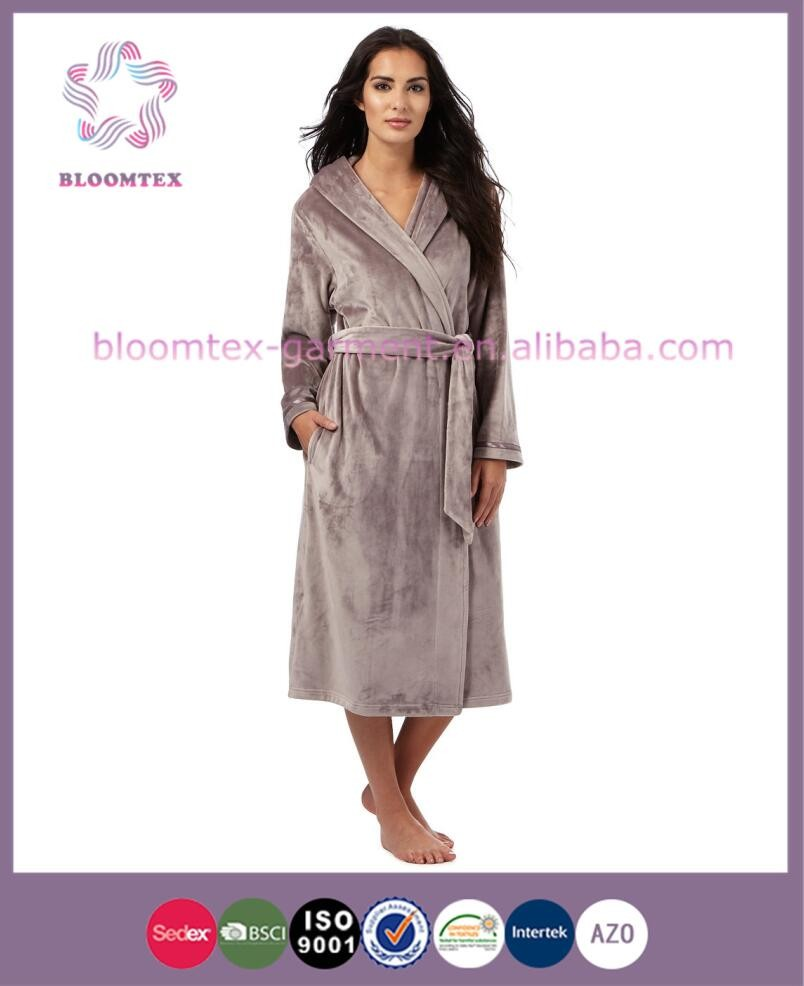 Polyester Modern Ladies Quilted Flannel Dressing Gowns - Buy Ladies ...
