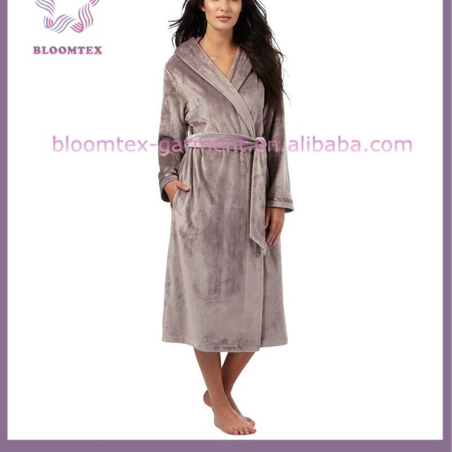 flannel dressing gown ladies-Source quality flannel dressing gown ...