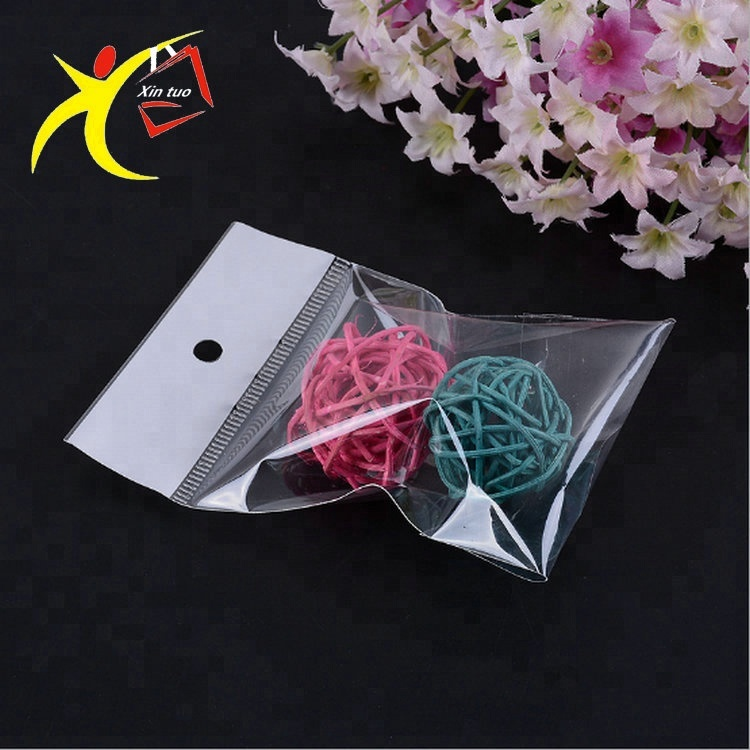 HOT!! New product China supplier plastic clear opp header pack bag