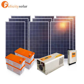 Home Use Complete Off Grid Home Solar Panel System For