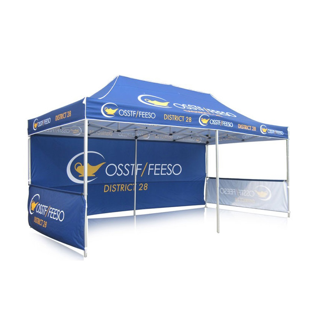 shop 3x6m frame canopy aluminium outdoor single double side half with full wall <strong>trade</strong> show full color printed display tent