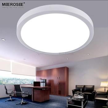 Meerosee White Color Round Led Ceiling Light Fixture Commercial Lighting Office Led Ceiling Panel Light Md83017 Buy Led Ceiling Panel Light Round