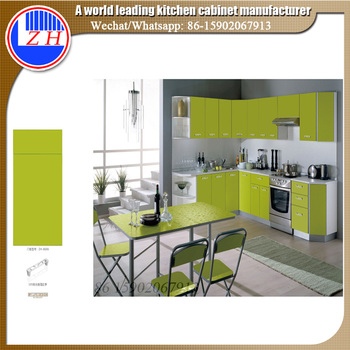 Zhihua Mauritius Apartment Glossy Kitchen Cabinet Designs For Small