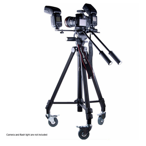 Professional aluminum photography heavy duty video camera fotomate 7005D tripod with wheels
