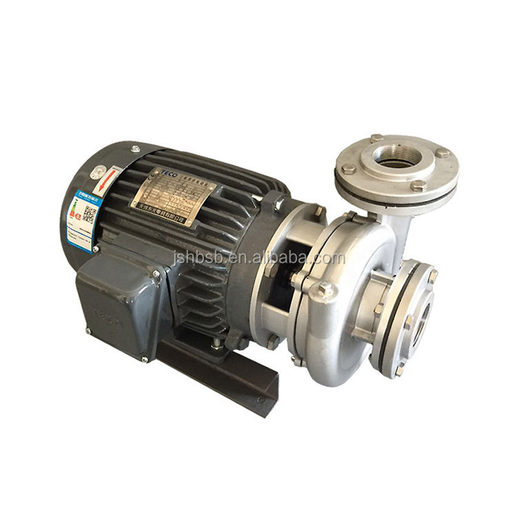 Electric horizontal high temperature resistant stainless steel centrifugal drive pump for industrial liquid in cheap price