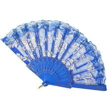 Традиционные китайские вентиляторы пластиковая ткань складной Ручной Веер вентиляторы ручные вентиляторы бамбуковые вентиляторы женские...(China)
