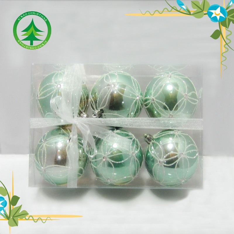 Wholesale shinny plastic christmas ball indoor or outdoor chrismas tree decoration