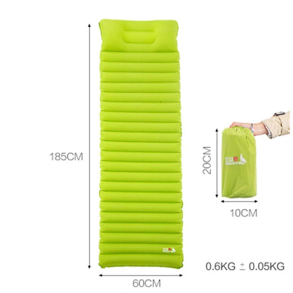 SHDIOU Camping Mat Ultra Light Inflatable Mattress Inflatable Air Cushion Moisture-Proof Cushion Inflatable Bed Picnic Mat Sleeping Pad
