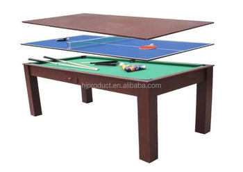 3 In 1 Multi Table Pool Ping Pong And Dining Portable 6ft Product On Alibaba